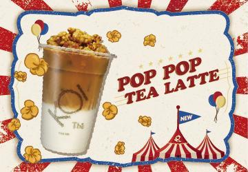 Indulge your sweet tooth in the luscious pairing of black tea latte and Caramel Popcorn.